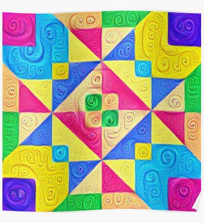 #DeepDream Color Squares Visual Areas 5x5K v1448168644 Poster