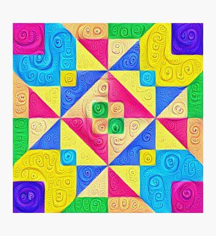 #DeepDream Color Squares Visual Areas 5x5K v1448168644 Photographic Print