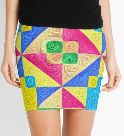 #DeepDream Color Squares Visual Areas 5x5K v1448168644 Mini Skirt