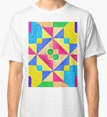 #DeepDream Color Squares Visual Areas 5x5K v1448168644 Classic T-Shirt