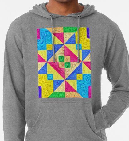 #DeepDream Color Squares Visual Areas 5x5K v1448168644 Lightweight Hoodie