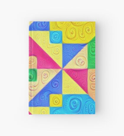 #DeepDream Color Squares Visual Areas 5x5K v1448168644 Hardcover Journal