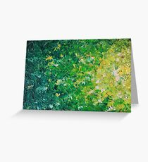 LAKE GRASS - Original Acrylic Abstract Painting Lake Seaweed Hunter Forest Kelly Green Water Lovely Greeting Card