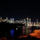Brisbane city night lights by Bruce Billing