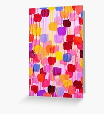 DOTTY in Pink - October Special Revisited Bold Colorful Polka Dots Original Abstract Painting Greeting Card