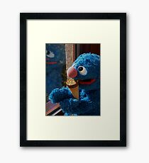 Hungry Grover Framed Print