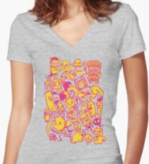 charactertastic Women's Fitted V-Neck T-Shirt