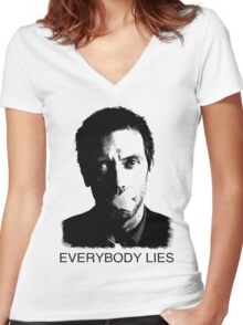 House Everybody Lies Women's Fitted V-Neck T-Shirt