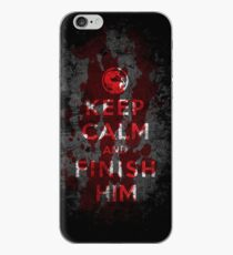 Keep Calm and Finish Him iPhone Case