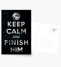 Keep Calm and Finish Him Postcards