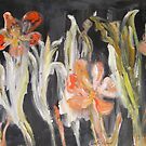 Christmas flowers (in red, green and black) by Ruth Vilmi