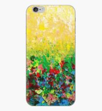 Vinilo o funda para iPhone SALA DE ESTAR DE LA NATURALEZA - Gorgeous Bright Bold Nature Wildflower Field Paisaje Arte abstracto