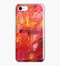 THE TANGO - BOLD Bright Acrylic Beautiful Modern Abstract Painting Dance Red Yellow iPhone Case/Skin
