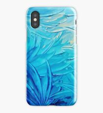 WATER FLOWERS - Beautiful Water Ocean Theme Shades Blue Floral Modern Design Abstract Painting iPhone Case