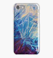 NIGHT FLOWERS - Beautiful Midnight Florals Feathers Eggplant Lilac Periwinkle Cream Modern Abstract iPhone Case/Skin