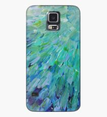 SEA SCALES - Beautiful BC Ocean Theme Peacock Feathers Mermaid Fins Waves Blue Teal Abstract Case/Skin for Samsung Galaxy