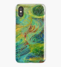 NAUTICAL GALAXY - Beautiful Aquatic Blue Green Ocean Universe Abstract Painting Gift Decor iPhone Case