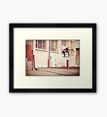 Austyn Gillette - Backside Flip - Los Angeles - Photo Aaron Smith Framed Print
