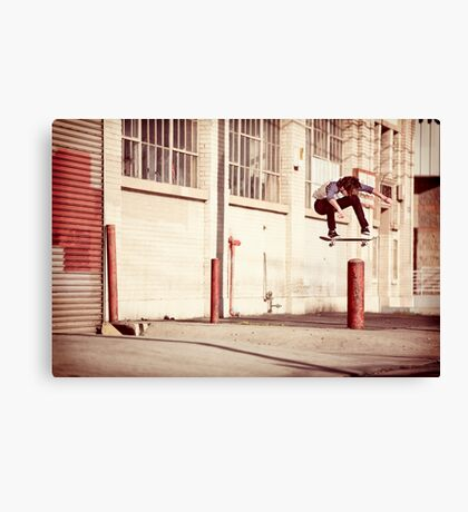 Austyn Gillette - Backside Flip - Los Angeles - Photo Aaron Smith Canvas Print