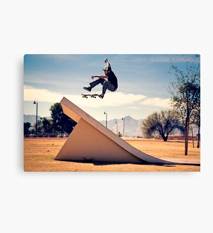 Ray Barbee - 360 Flip - Arizona - Photo Aaron Smith Canvas Print
