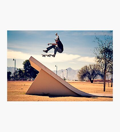 Ray Barbee - 360 Flip - Arizona - Photo Aaron Smith Photographic Print