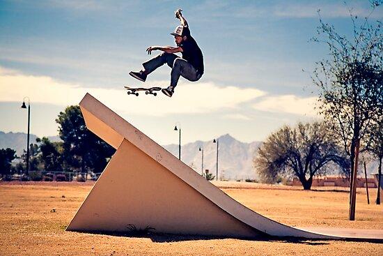 Ray Barbee - 360 Flip - Arizona - Photo Aaron Smith by Reggie Destin Photo Benefit Page