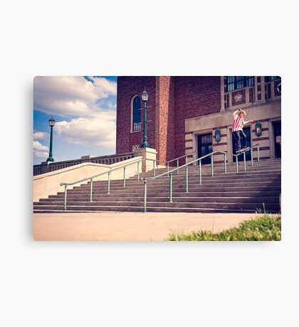 Dan Lutheran - 50-50 - Kansas City - Photo Aaron Smith Canvas Print