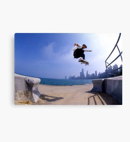 Patrick Melcher-Chicago photo by Andrew Hutchison Canvas Print