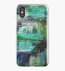 AQUATIC COMMOTION in Color - Textural Ocean Beach Nautical Abstract Acrylic Painting Wow Winter Xmas iPhone Case