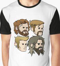 MASTODON cartoon quartet Graphic T-Shirt