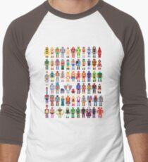 8-bit Masters Men's Baseball ¾ T-Shirt