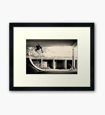 Jason Dill backside ollie by Sam Muller Framed Print