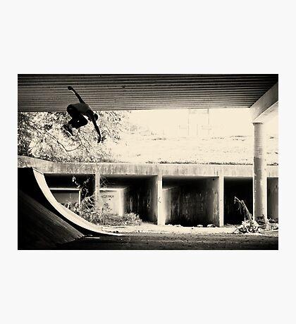 Jason Dill backside ollie by Sam Muller Photographic Print