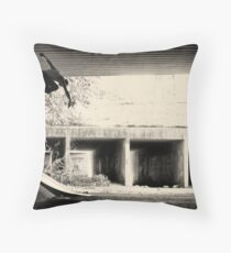 Jason Dill backside ollie by Sam Muller Throw Pillow