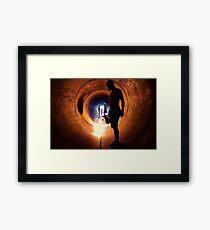 Burning Tunnel by Sam Muller Framed Print