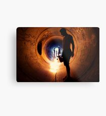 Burning Tunnel by Sam Muller Metal Print