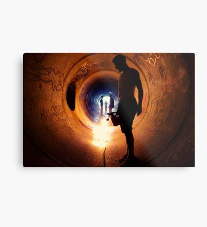 Burning Tunnel by Sam Muller Metal Print