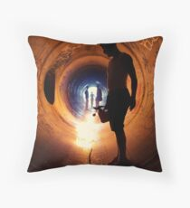 Burning Tunnel by Sam Muller Throw Pillow