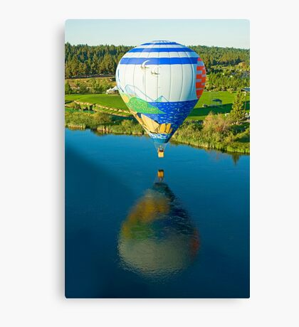 Reflections On The Dechutes Canvas Print