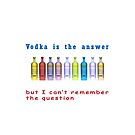 Famous quotes series: Vodka is the answer but I can't remember the question  by PhotoStock-Isra