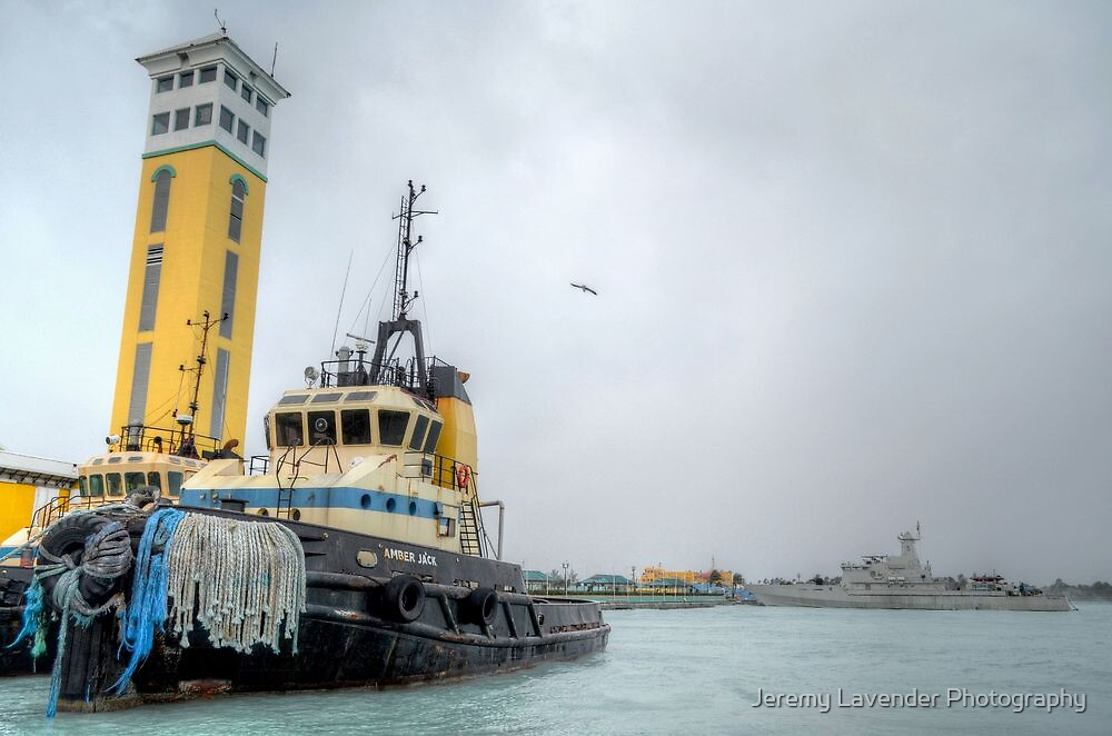 "Day OFF for ""Amber Jack"" during the beating time of Hurricane Sandy in Nassau, The Bahamas by Jeremy Lavender Photography"