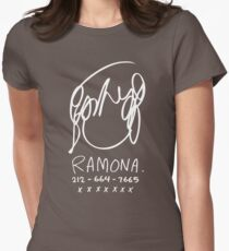 Ramona Flowers (on Black) Womens Fitted T-Shirt