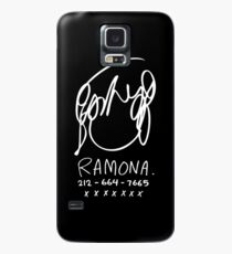 Ramona Flowers (on Black) Case/Skin for Samsung Galaxy
