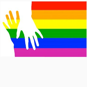 rainbow flag with two hands by bangbangflip