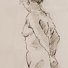Nude Sketch by Mick Kupresanin
