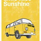 Little Miss Sunshine Minimalist Print  by Creative Spectator