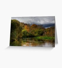 The river Itchen at Itchen Stoke, Hampshire Greeting Card