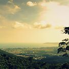 Sanya landscape from mountain, China by Chris Millar