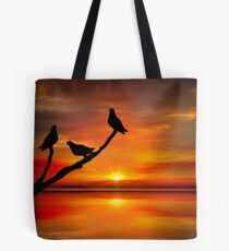 Birds at Sunset point-2 Tote Bag