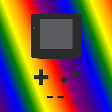 Gameboy Iphone Case Rainbow by triforce15